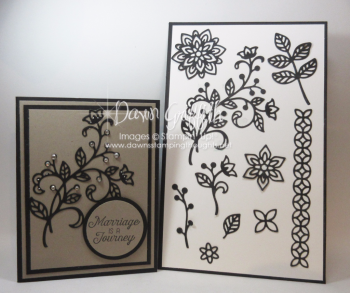 Marriage is a journey thinlits templateDawn Griffith Stampin up demonstrator