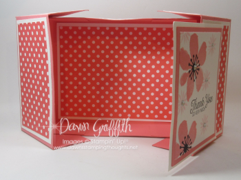Flirty Split Top gift box opened a Dawn Griffith Stampin' Up demonstrator