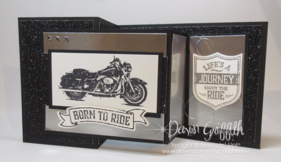 One Wild Ride Double Z fold card Dawn Griffith Stampin'Up Demonstrator