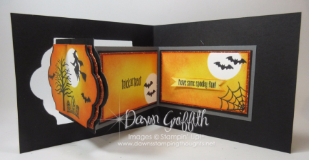 Spooky Fun Halloween Lots of Labels Z fold card Dawn Griffith 3