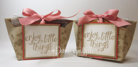 Enjoy the Little Things envelope treat pouch Dawn Griffith Video stampin up