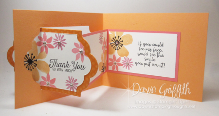 Lots of Labels Z fold Thank you card Dawn Griffith Stampin Up Demonstrator
