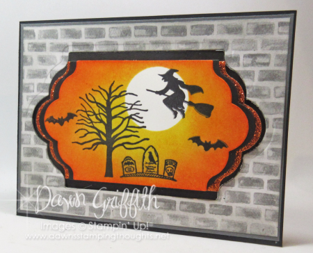 Spooky Fun Halloween Lots of Labels Z fold card Dawn Griffith 1