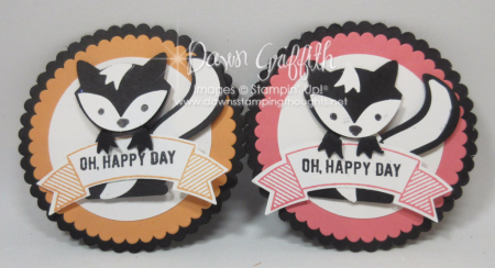 Fox Builder punch Skunk Oh happy day embellishment Dawn Griffith Stampin Up