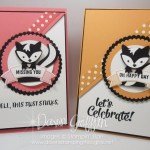 Fox Builder Punch ~ Skunk birthday card  video