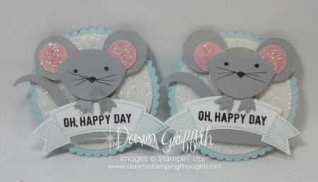 Fox Builder punch stampin up Mouse punch art with Dawn Griffith Video