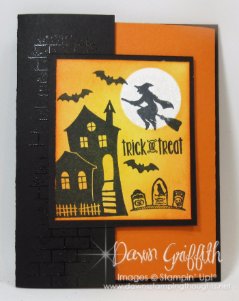 Halloween Double Fun fold card #1 front Dawn Griffith Stampin up demonstrator