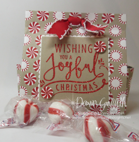 Christmas treat bag Dawn Griffith stampin up