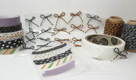 Dawns quick tip with washi tape and bows