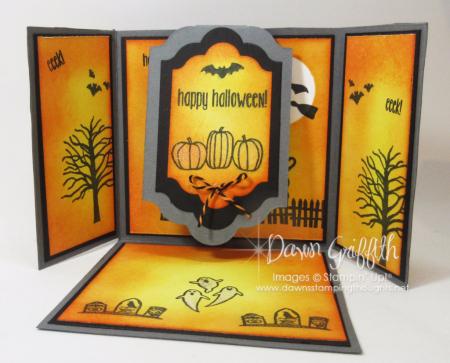 Triple Flap Fold Halloween card  insdie #1 Dawn Griffith
