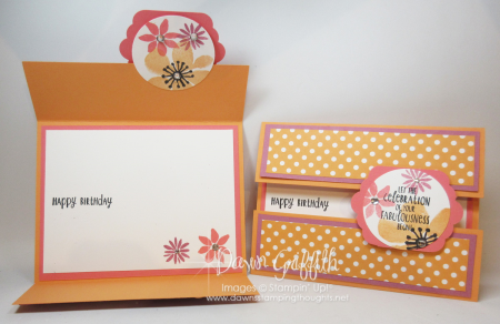 Birthday gate fold cards Dawn Griffith Stampin up