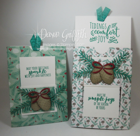 Window Slider Christmas cards Dawn Griffith