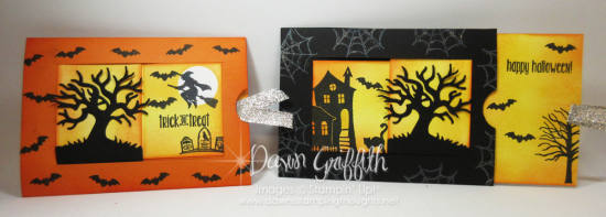 Window Slider Halloween cards Dawn Griffith