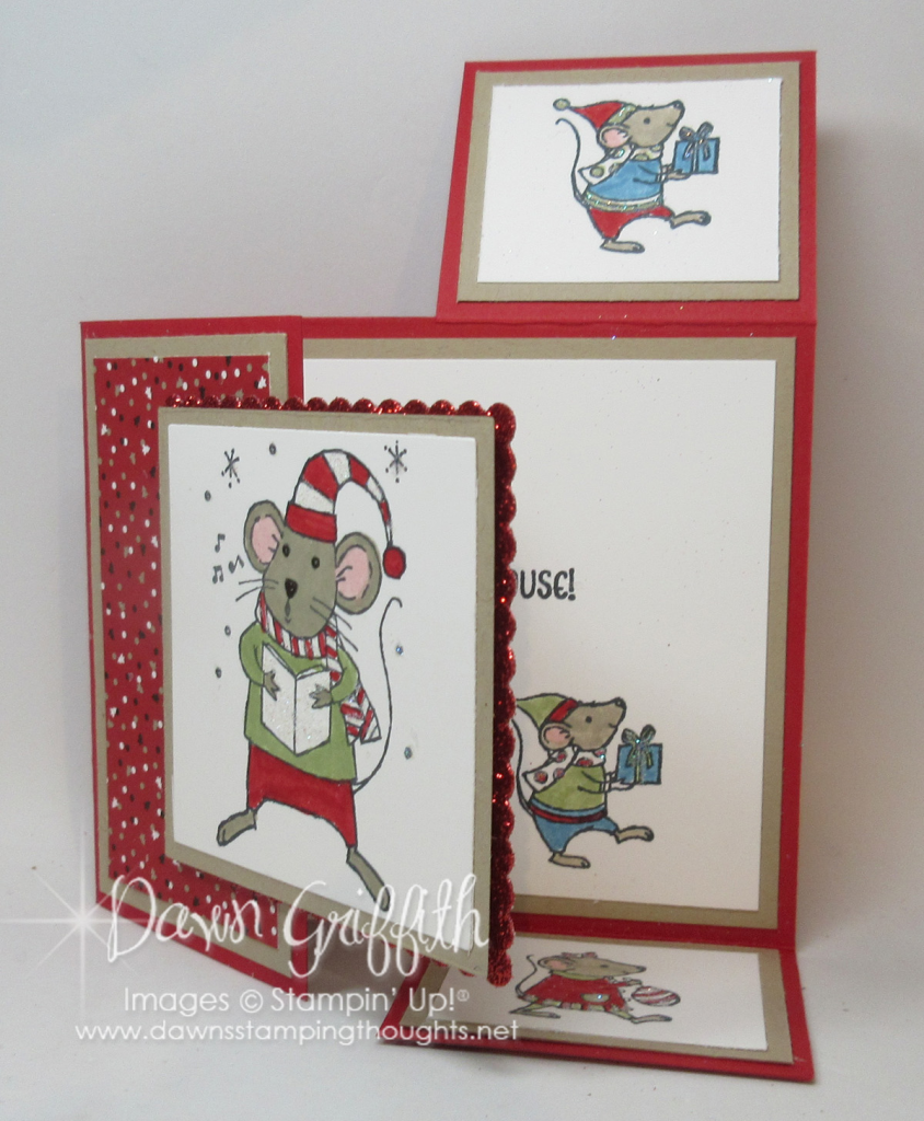Dutch fold christmas card video dawns stamping thoughts dutch fold merry mice card dawn griffith m4hsunfo