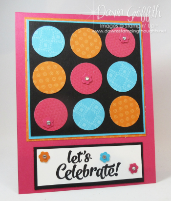 Lets Celebrate Birthday card front Dawn Griffith