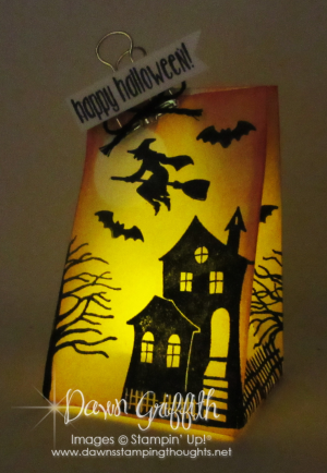 Halloween Luminary Dawn Griffith stampin up