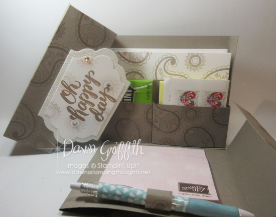 Oh Happy Day Stationary Box Tip Top Taupe opened Dawn Griffith