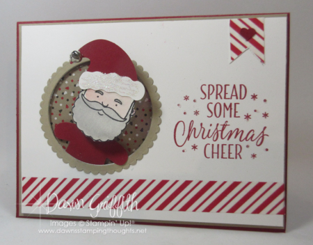 Christmas Cheer Action Wobble Santa card Dawn Griffith
