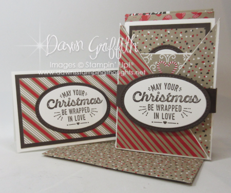 Christmas Box with Note cards and envelopes Dawn Griffith Stampin Up