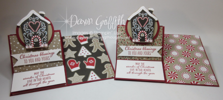 Christmas Easel cards Candy Cane Lane DSP Dawn Griffith