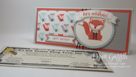 Jessie Birthday card with Gift Certificate Dawn Griffith