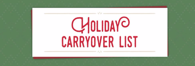 Holiday Carry Over List Dawn Griffith