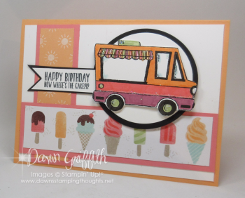 Ice Cream Truck Birthday card front Dawn Griffith #1