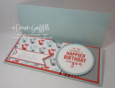 Jessie Birthday card Gift Certificate holder inside Dawn Griffith