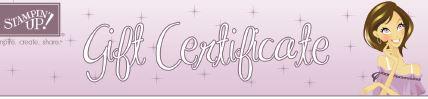 Dawn's Gift Certificates