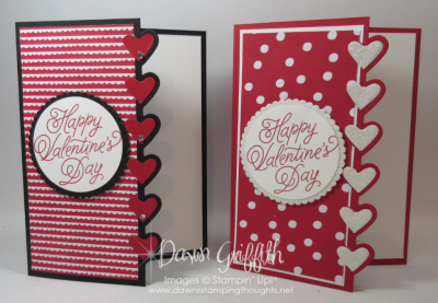 Valentine Days card using Love notes Dawn Griffith