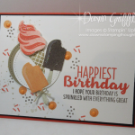 Ice Cream Birthday Pop up card