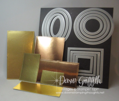 How to make rectangle shapes with square framelits Dawn Griffith