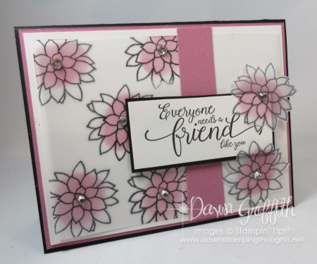 Oh So Succulent Friend card Dawn Griffith
