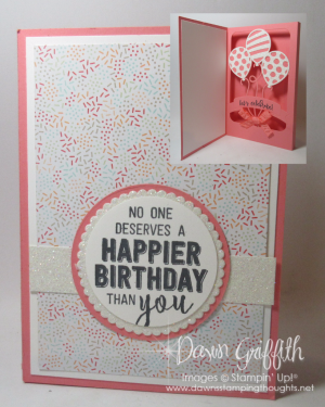 Shadow Box Balloon Pop up with Dawn Flirty Stampin'Up
