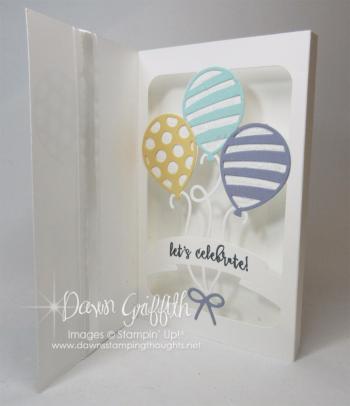 Shadow box card #2 Whisper White Dawn Griffith inside