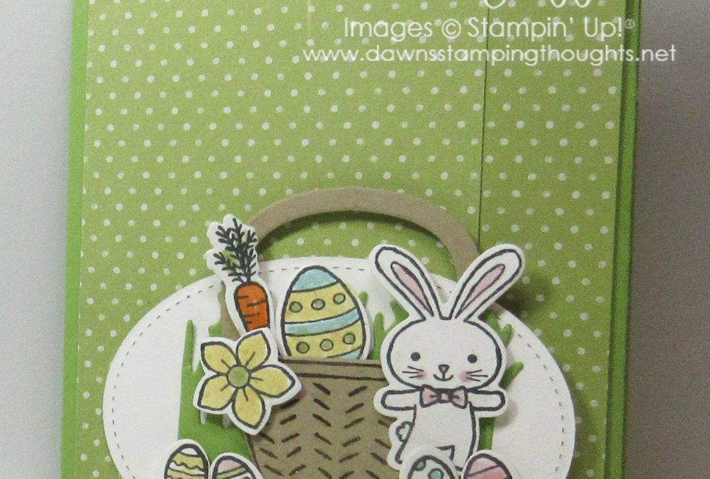 Easter Slider card using the Basket Bunch Bundle  video