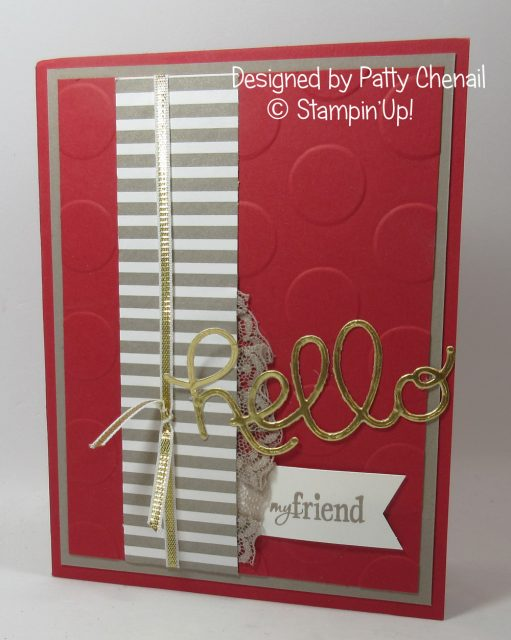 Hello my friend card , beautiful card from my friend Patty Chenail .
