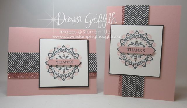 Make a Medallion stamp set using Blushing Bride Classic ink, Blushing Bride Glimmer paper and Blushing Bride card stock. Such a beautiful card . This set will be available for FREE until March 31, 2017 for Sale-a-Bration Dawn Griffith SU! demonstrator check out the video on how I made this card on my blog .