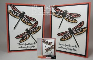 Stained Glass Dragonfly , Dragonfly Dreams , Detailed Dragonfly thinlits ,