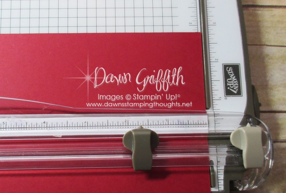 Stampin' Trimmer Quick Tip ~ cutting dark card stock video