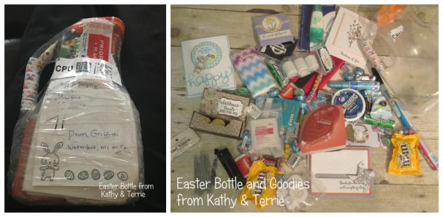 Easter Bottle of goodies from Kathy & Terrie , Easter Bottle , Dawn Grffith, www.DawnsStampingThoughts.net
