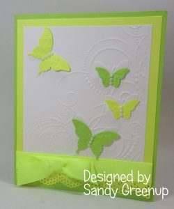 Easter Card from Sandy Greenup , Elegant Butterfly punch ,