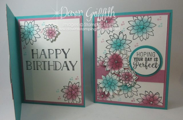 Oh So Succulent Birthday card , Bermuda Bay , Sweet sugarplum , Check out the video posted on my blog all the details will be posted over there as well. Dawn Griffith