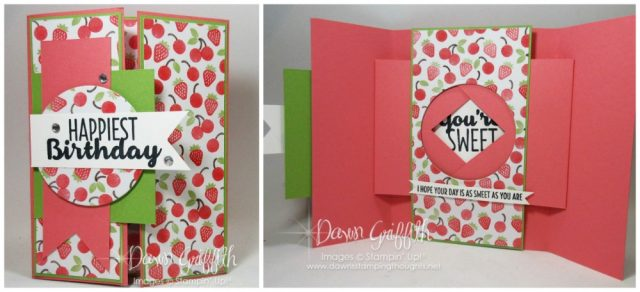Peek a boo shutter card video posted on my blog today . Made many versions of this type of card . Check them and the video out today . Dawn Griffith Stampin'Up! Demonstrator .