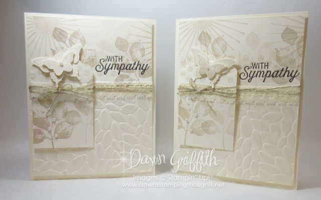 Sympathy card video posted on my blog today , Using the Kinda Eclectic stamp set along with the Flourishing Phrases stamp set and the Petal Burst stamp set . Check out my blog for all the details on this beautiful card . Dawn Griffith Stampin;' Up! Demonstrator