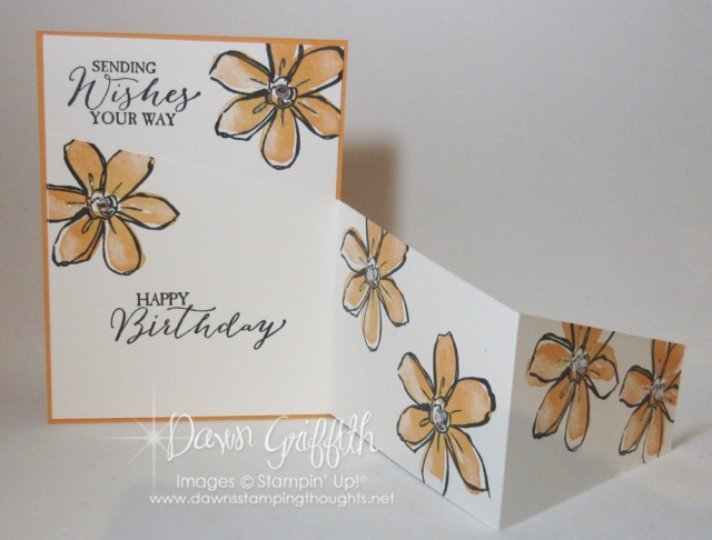 Zig Zag Fold card video posted on my blog today . Dawn Griffith DawnstampingThoughts.net