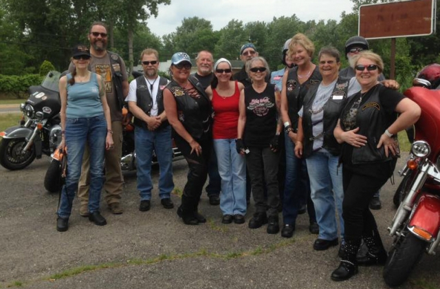 A.M Leather stop #1 for group #1 on the Mystery Ride June 17, 2017