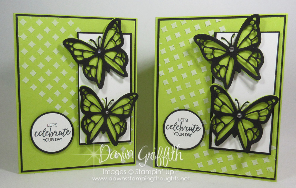 Lemon Lime Twist Butterfly Birthday card video Dawns Stamping – Butterfly Birthday Card