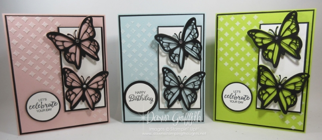 Lemon Lime Twist, Soft Sky & Pink Pirouette Butterfly Birthday card , Video posted on my blog today . We will be using the embossing paste as well for the beautiful background Dawn Griffith