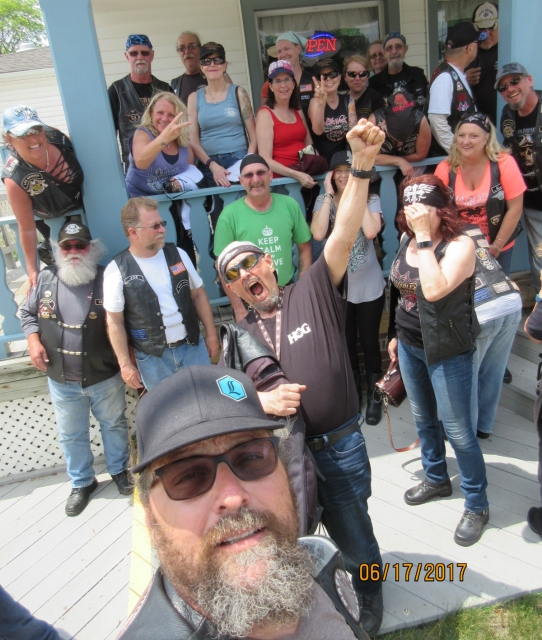 LOH Mystery Ride group photo June 17, 2017